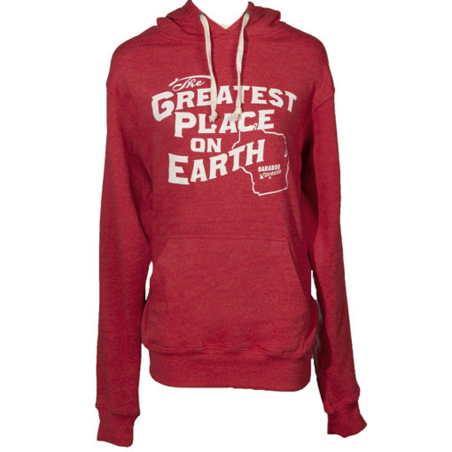 hoodie Red Greatest Place on Earth