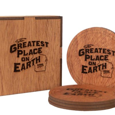 Greatest Place on Earth Wooden Coasters with box