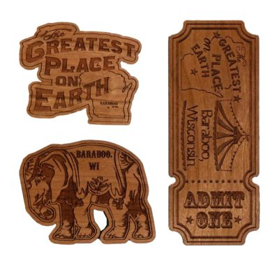 wooden Baraboo Magnets