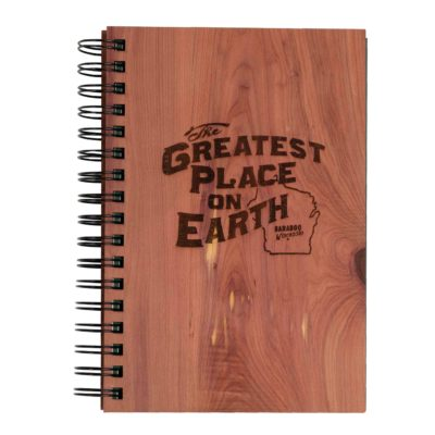 Greatest Place on Earth Wooden Journal front with logo