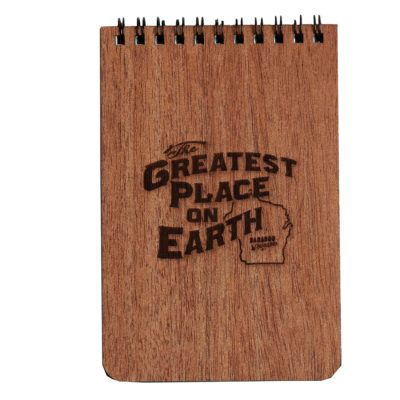 Baraboo Greatest Place on Earth Wooden Note Pad