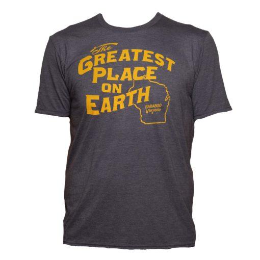 Blue gold adult t-shirt front of shirt