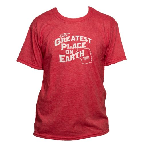 Greatest Place on Earth T shirt for youth red color