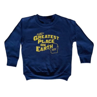Small Blue and Gold Crew Toddler Sweatshirt