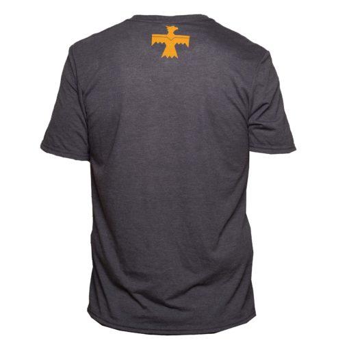 blue gold adult t shirt back with thunderbird logo