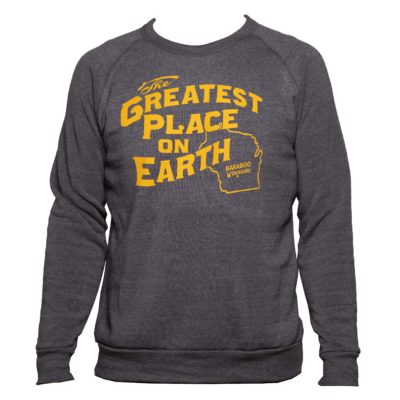 blue and gold crew adult front of sweatshirt