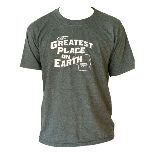 Greatest Place on Earth Youth Grey with white logo