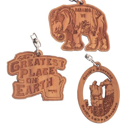 wooden keychains 3 of them