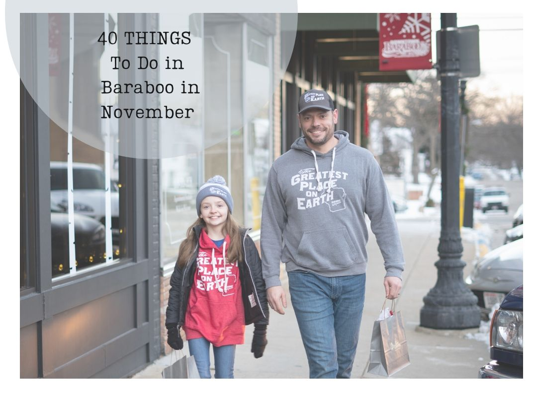 Father and Daughter Shopping in Downtown Baraboo