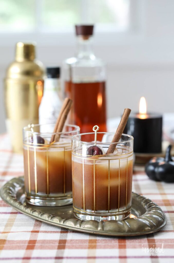 Old fashioned fall cocktail