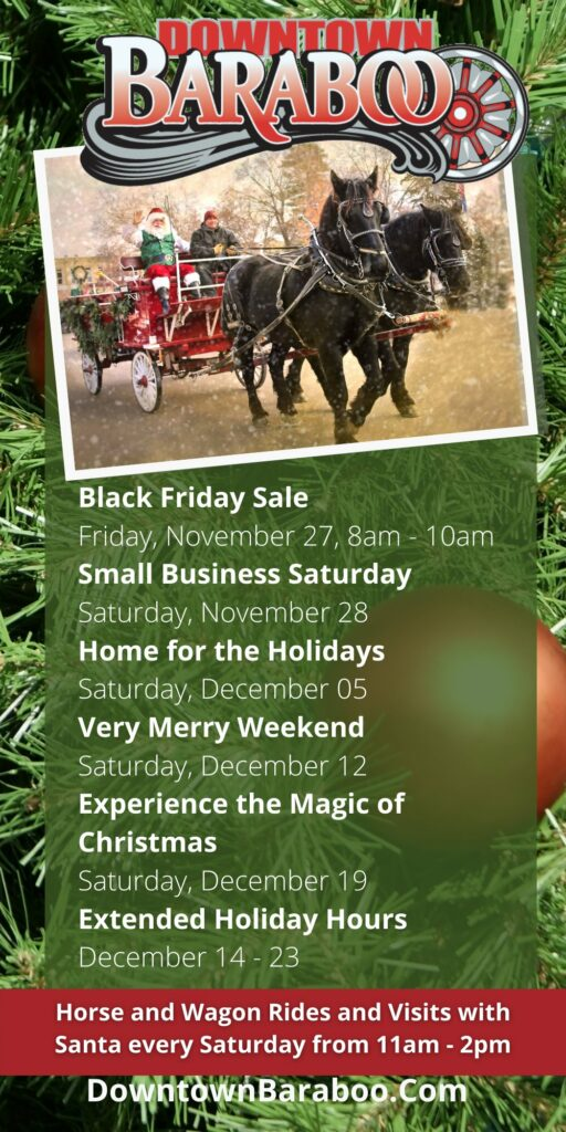 holiday shopping dates in baraboo