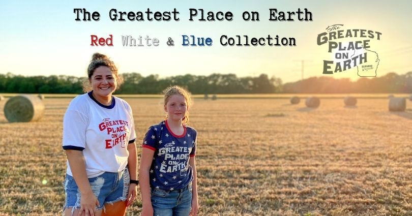 Greatest place on earth summer red white blue